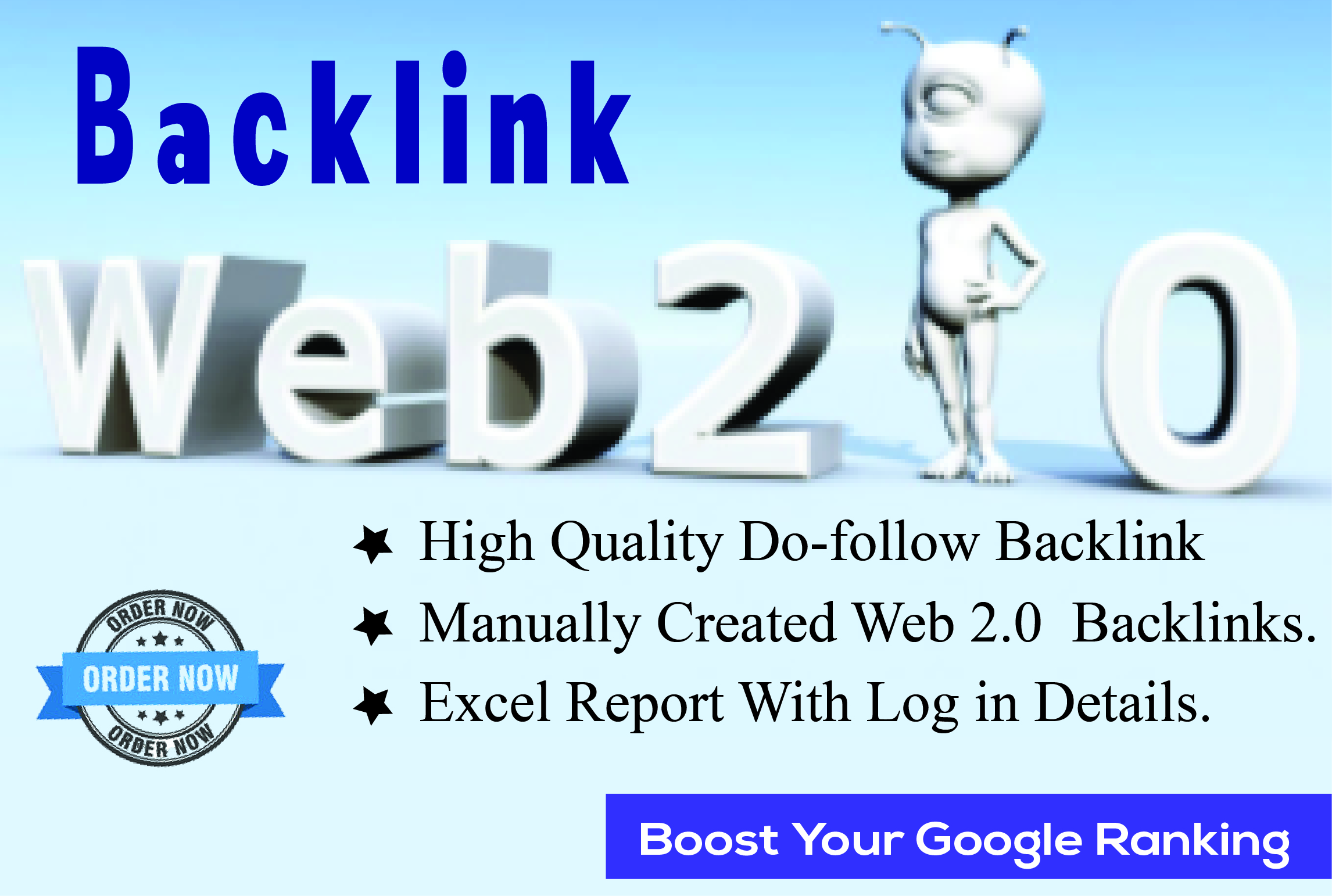 I well do creation web 2.0 backlink for your website