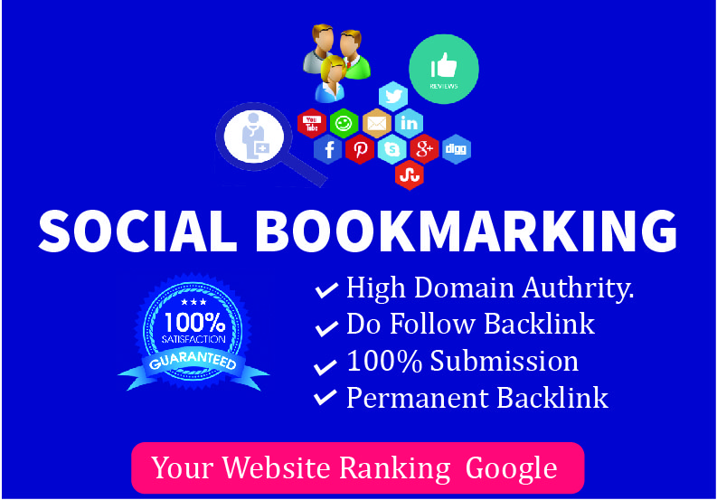 I Will Create Manually 50 Social Bookmarking Back-links For Your Website