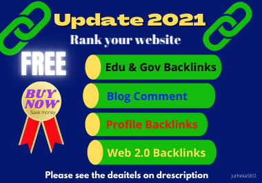 Rank your website special offers Profile Backlinks, WEb 2.0,  Blog comment & Edu Backlinks