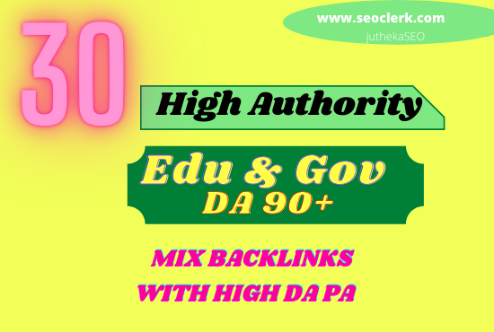 I will 30 usa pr9, edu & b gov mix dofollow seo backlinks service link building
