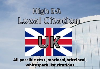 I will create 20 UK local listing or local citations for local SEO