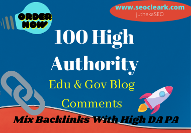 100 pr9 high quality edu & gov backlinks and blog comments