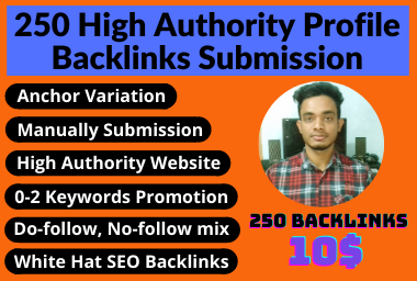 I will Do 250 HQ Do-follow Manually Backlinks Profile Submission