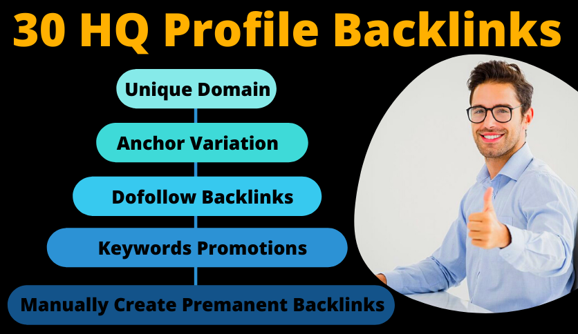 I Will Build Manually 30 High DA 80+ Profile Backlinks