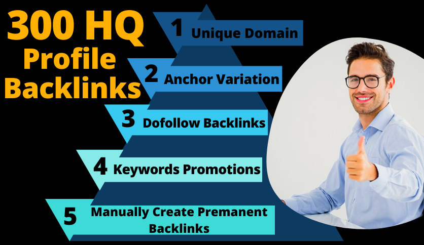 I Will Boost Your Rank With My 300 Effective Profile Backlinks