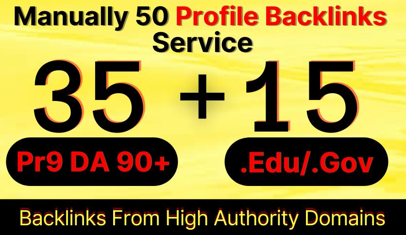 35 Pr9 + 15 Edu/Gov Dofollow DA 90+ SEO Safe Profile Backlinks 2021 Best Results