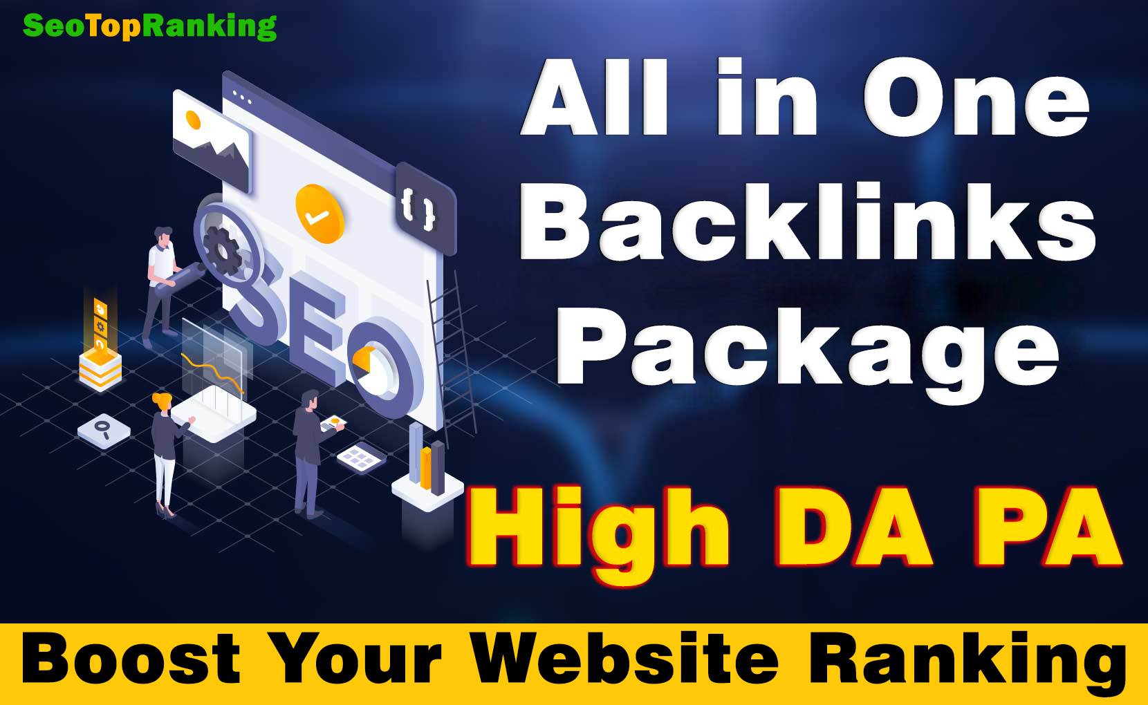 Get All in one backlinks package boost your ranking on Google with High-quality SEO backlinks.
