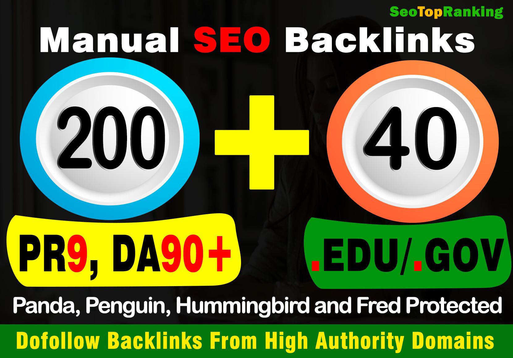 Exclusive Offer 240 high DA premium quality 40 EDU/GOV+ 200 PR9 super high backlinks