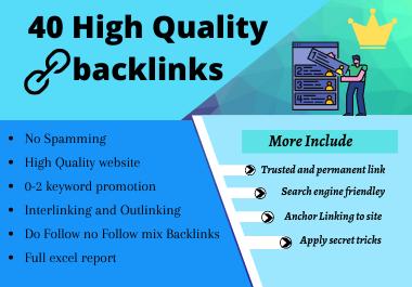 40 High Quality Profile Backlinks Creation