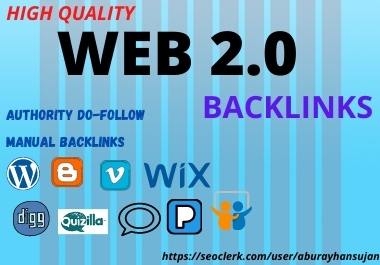 Build 30 High DA PA Web 2.0 Backlinks