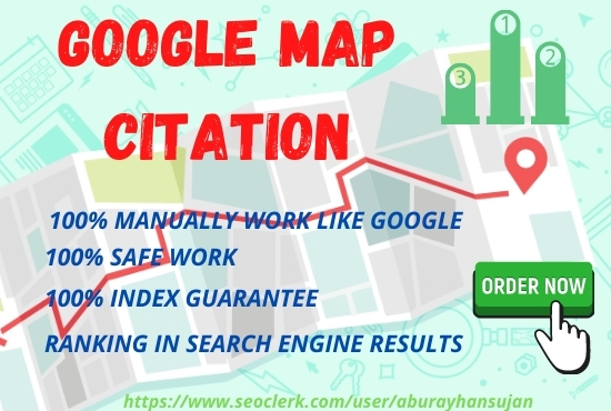 Build Manually 200+ google map citations for local SEO