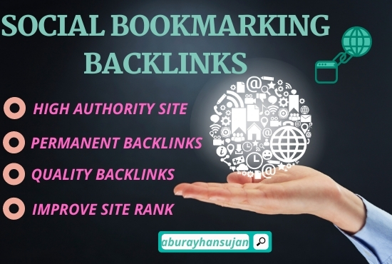 Build 50 social bookmarking submission on high authority websites