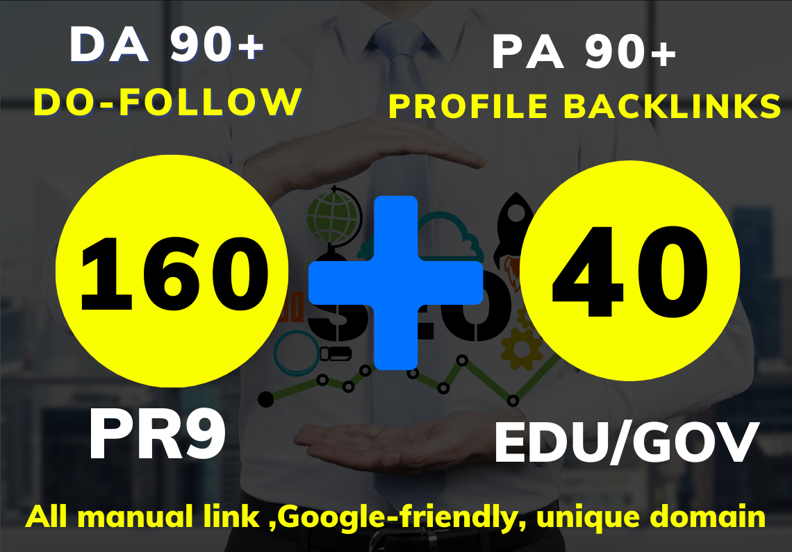 The best 200 Profile backlinks Do-follow with DA60+ & PR9+