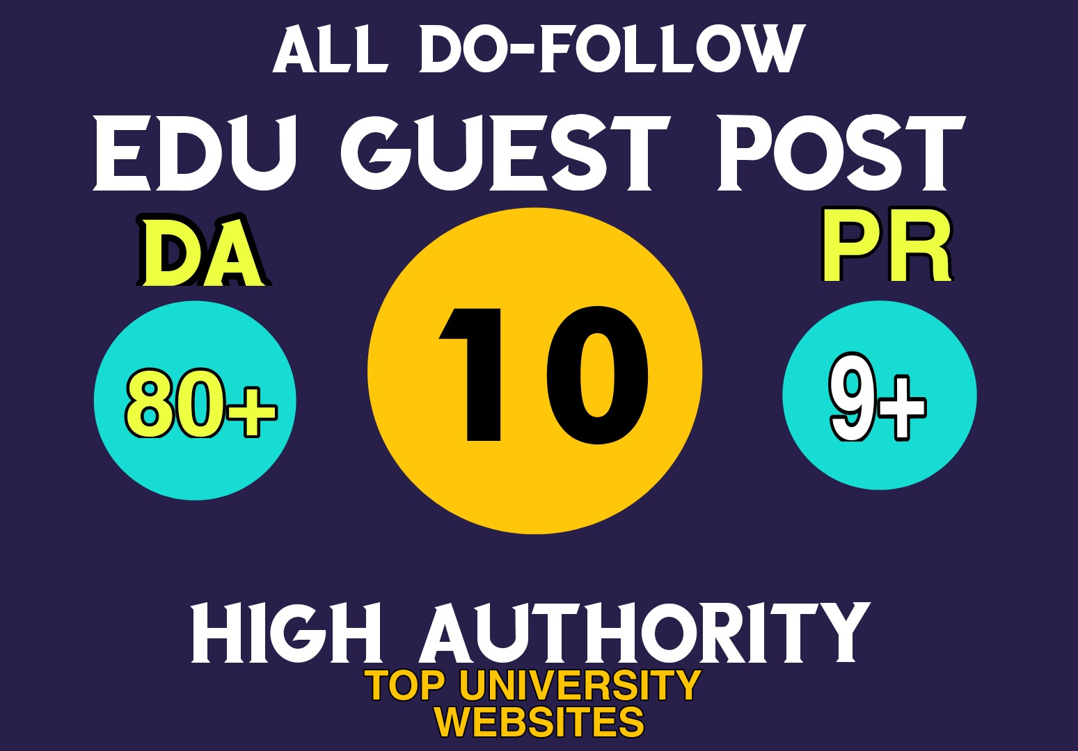 Create 10 Do-Follow High EDU Guest Post Permanent link on Top university Website