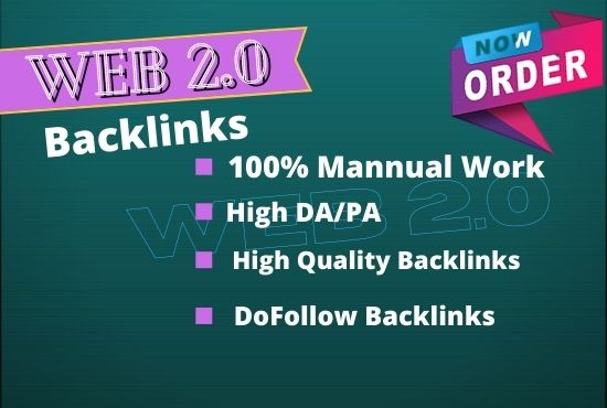 I Will Creat 20 SUPER HIGH AUTHORITY WEB 2.0 Backlinks