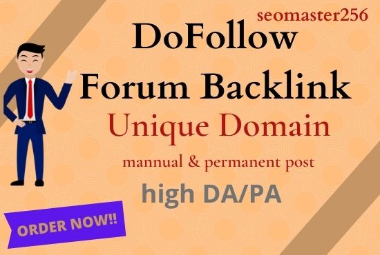 I Will Provide 15 High Quality Domain Forum Posting Backlinks on High DA