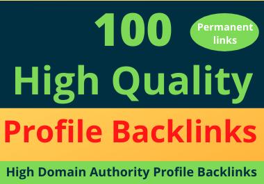 100 High-Quality Effective DA Profile Backlinks-2021