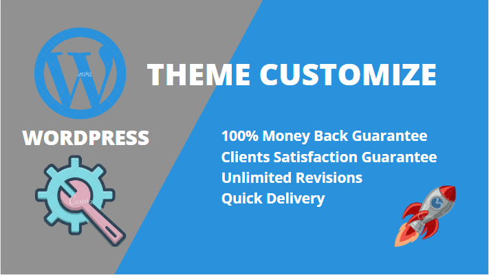 I will do WordPress theme customization redesign and ecommerce website