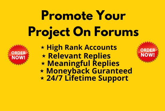 I will promote your project on crypto forums