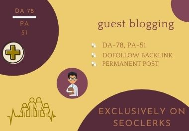 I will publish health guest blogging on da 78 & pa 51 blog with dofollow link