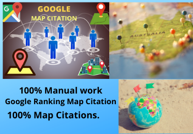Manual 300 Google Maps Citation permanent backlinks bring more traffics