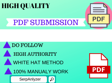 50 PDF Submission High authority low spam score website backlinks permanent link building