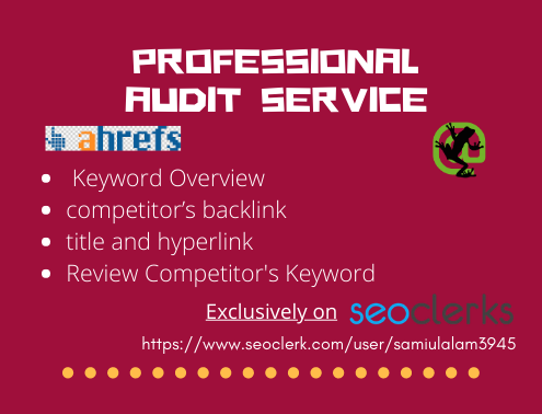 Provide Complete SEO Audit Report With Ahrefs And Screamingfrog