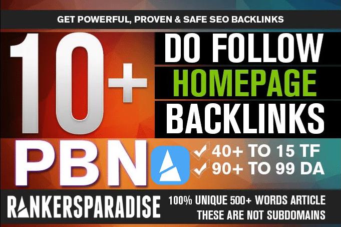 Provide high quality 25 PBN homepage permanent backlinks da 20