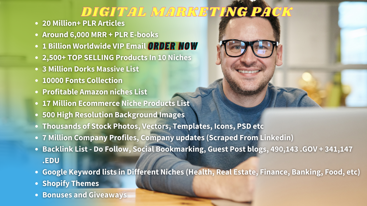 I Will Give You 20 Million PLR Article, 6000 Ebooks, 1 Billion Email List and Bonus Material