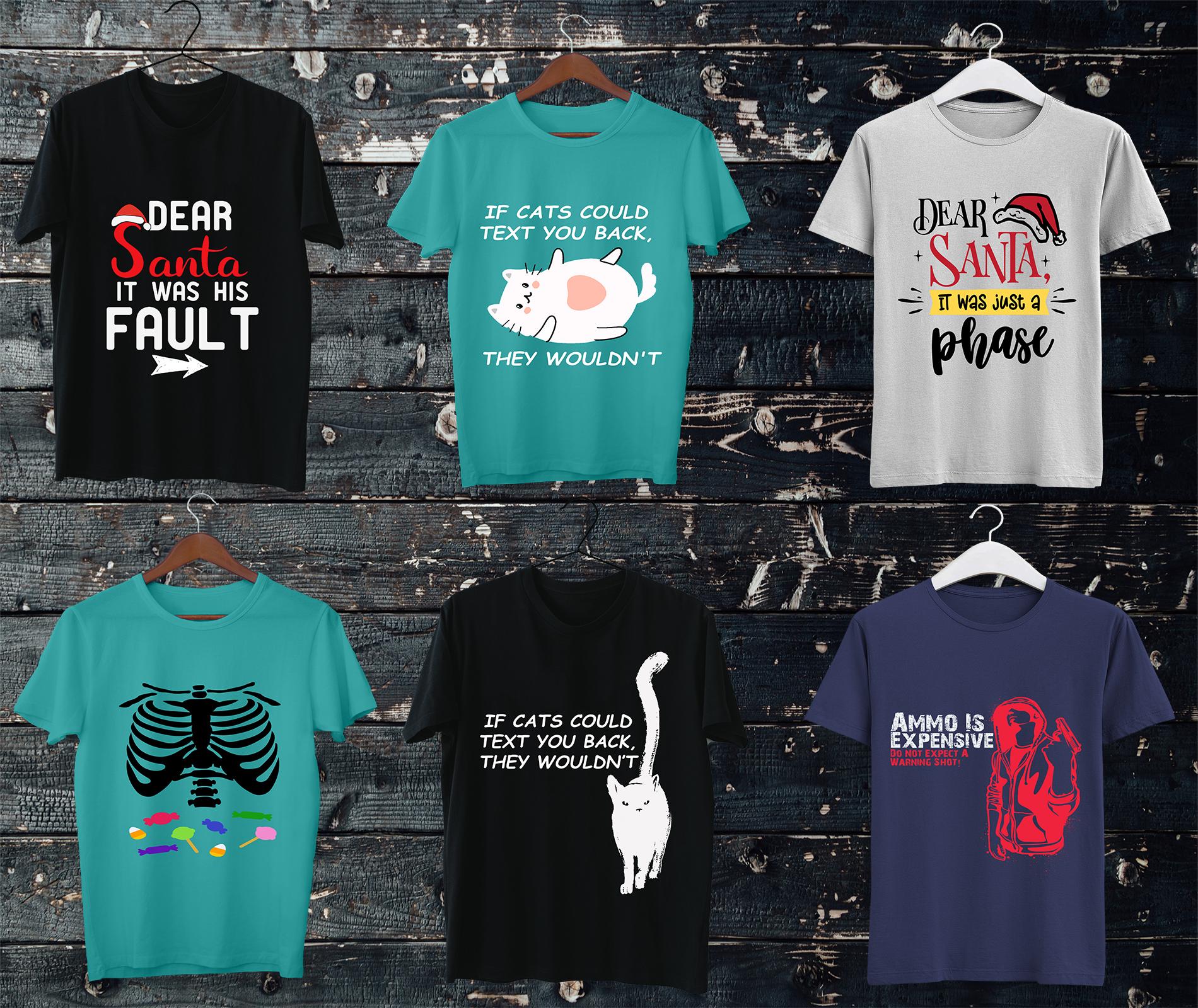 I will create 10 eye catching custom t shirt designs