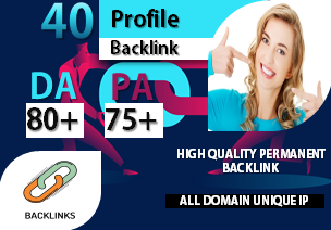 I Will Do Manually 40 Do-follow High Authority Profile Backlinks/Social Profiles DA 80 plus