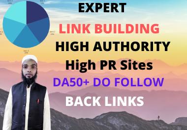 I will high quality do-follow backlinks da 50 plus authority link building