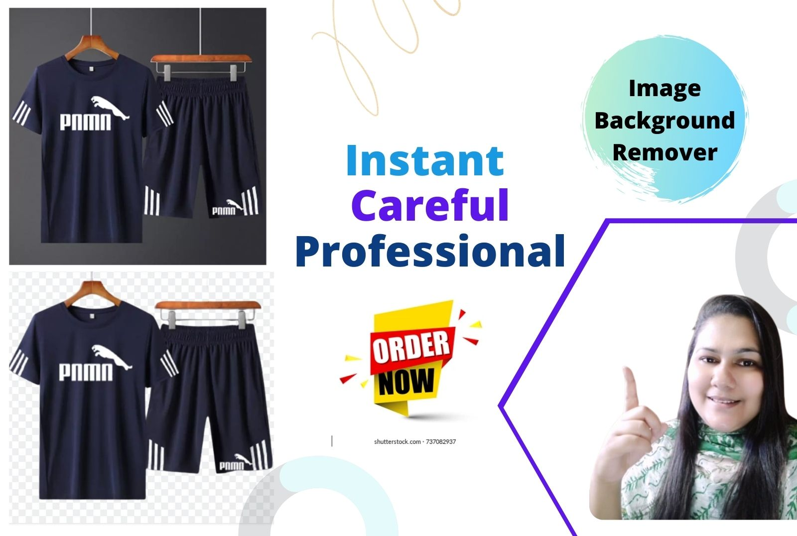 I will remove background up to 50 image manually
