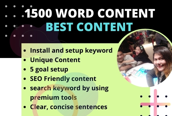 I will write manually up to 1500 word content with any keyword