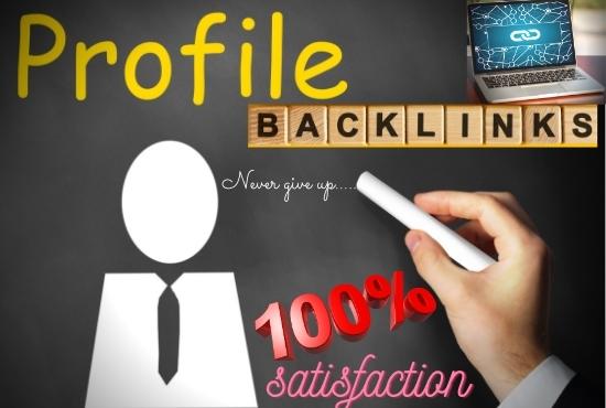 I will give 70 do follow profile backlinks