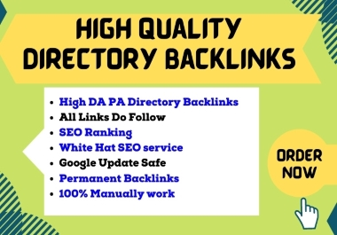 I will Construct 50+ manually directory submission SEO backlinks