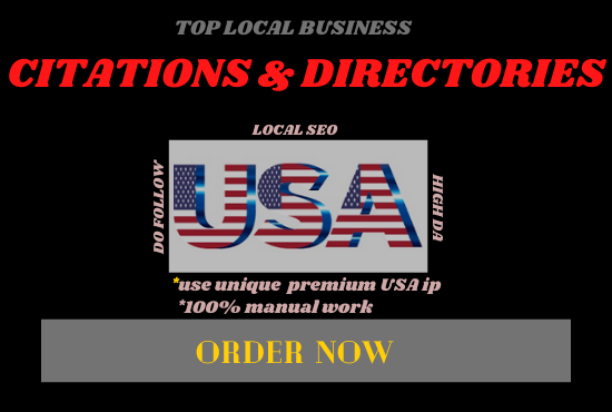 I will create top 300 high authority citations & directory submission for local SEO