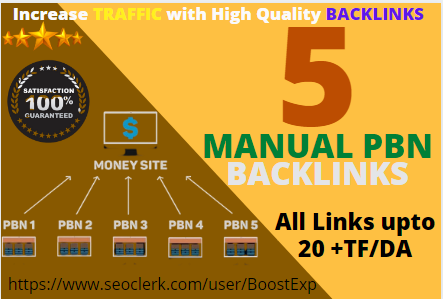 Build 5 Permanent PBN Backlinks on High Metrics Domains