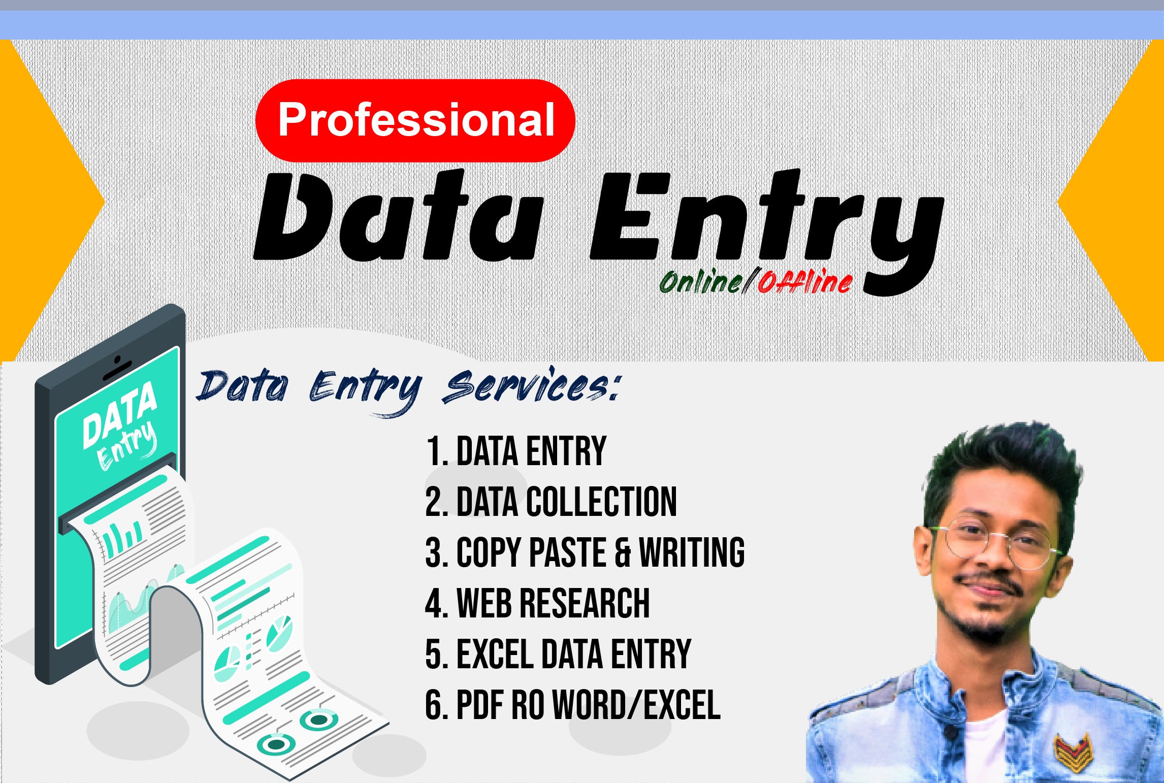 I will do perfect Data Entry,  Copy Paste & Web Research