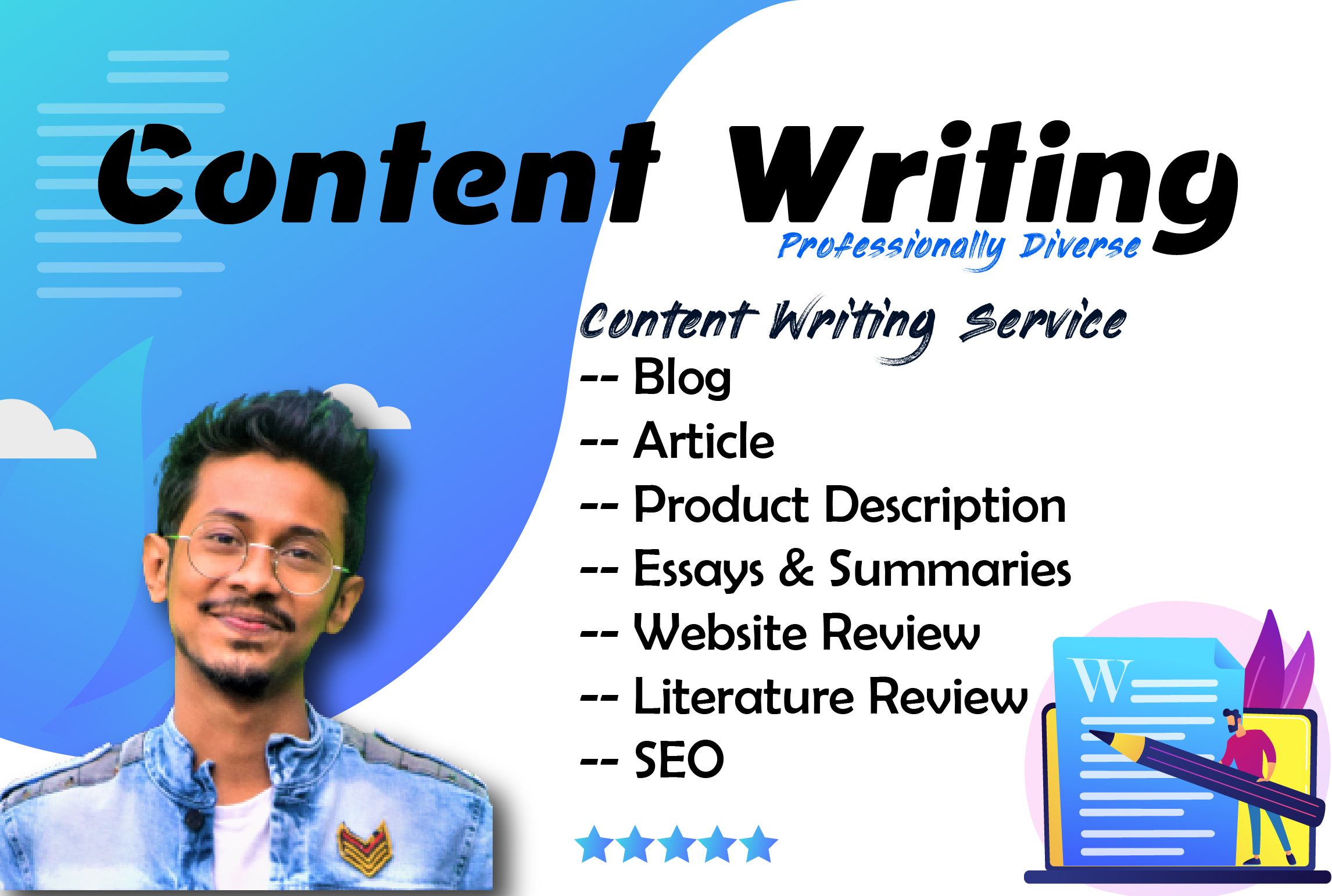 I will 1000 Excellent Words SEO friendly Article Writing,  Content Writing,  Blog Writing on Any Topic