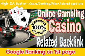 Google 1 Page Poker Gambling Website with High DA PA CF TF Permanent Homepage Backlinks