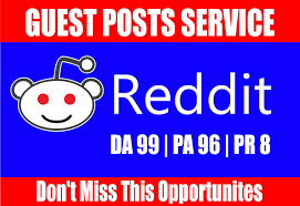 Write And Publish 20 Guest Post On Reddit. Com