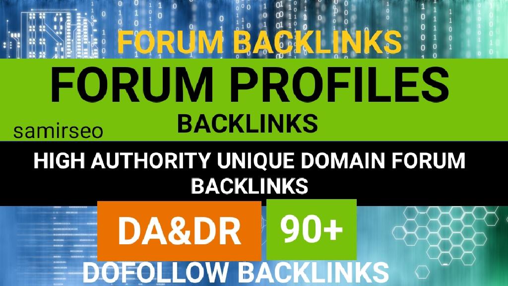 7000 Forum profiles posting backlinks High PR Backlinks and rank higher on Google