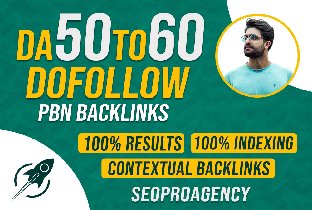 Provide you 5 DA 50 to 60 PBN high quality dofollow backlinks for good seo results