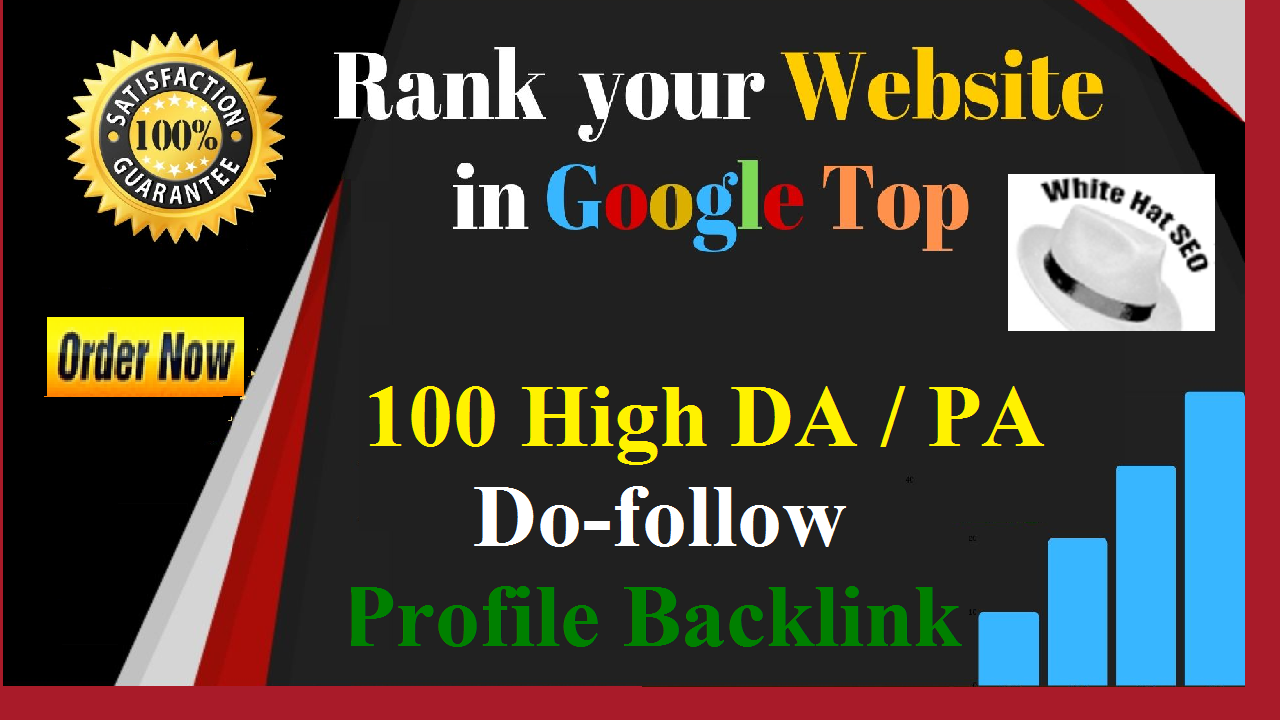 I will manually create 100 Pr9, DR > 50 High authority do-follow profile backlinks