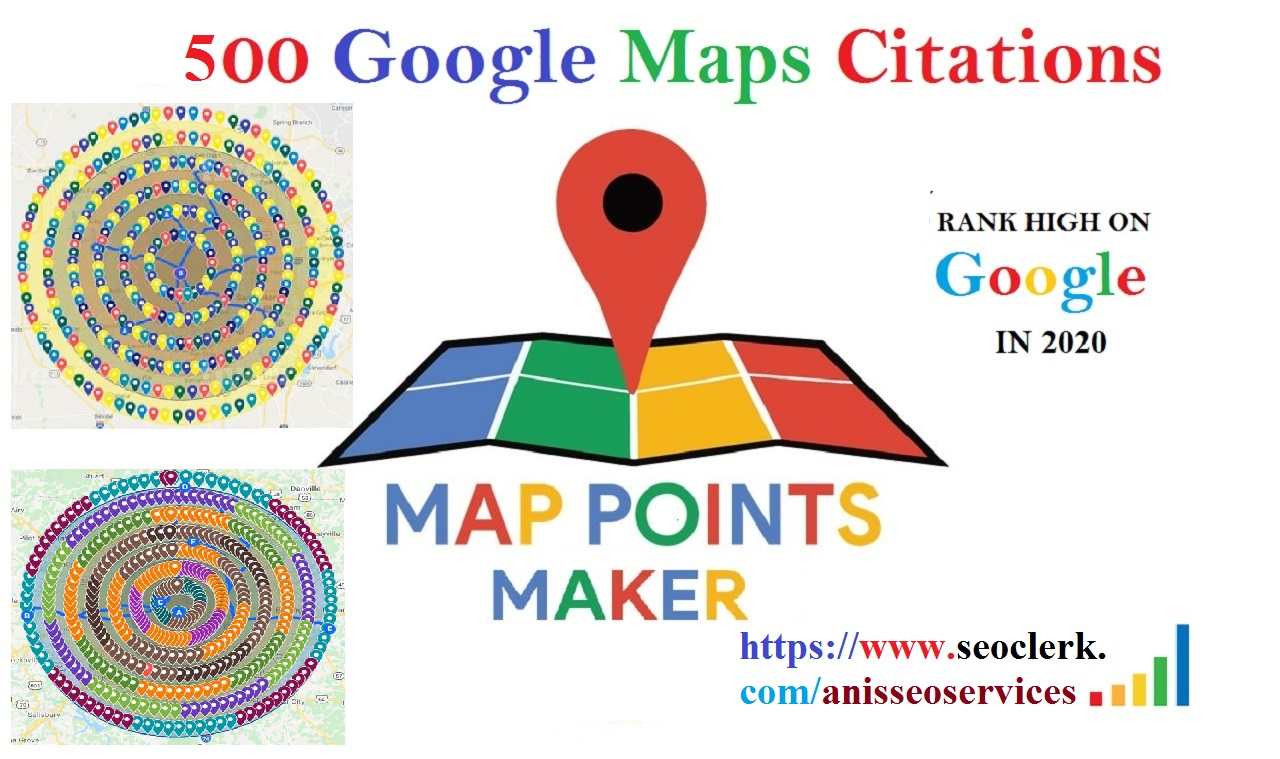 Do 500 google point maps citations with Driving Directions for GMB ranking