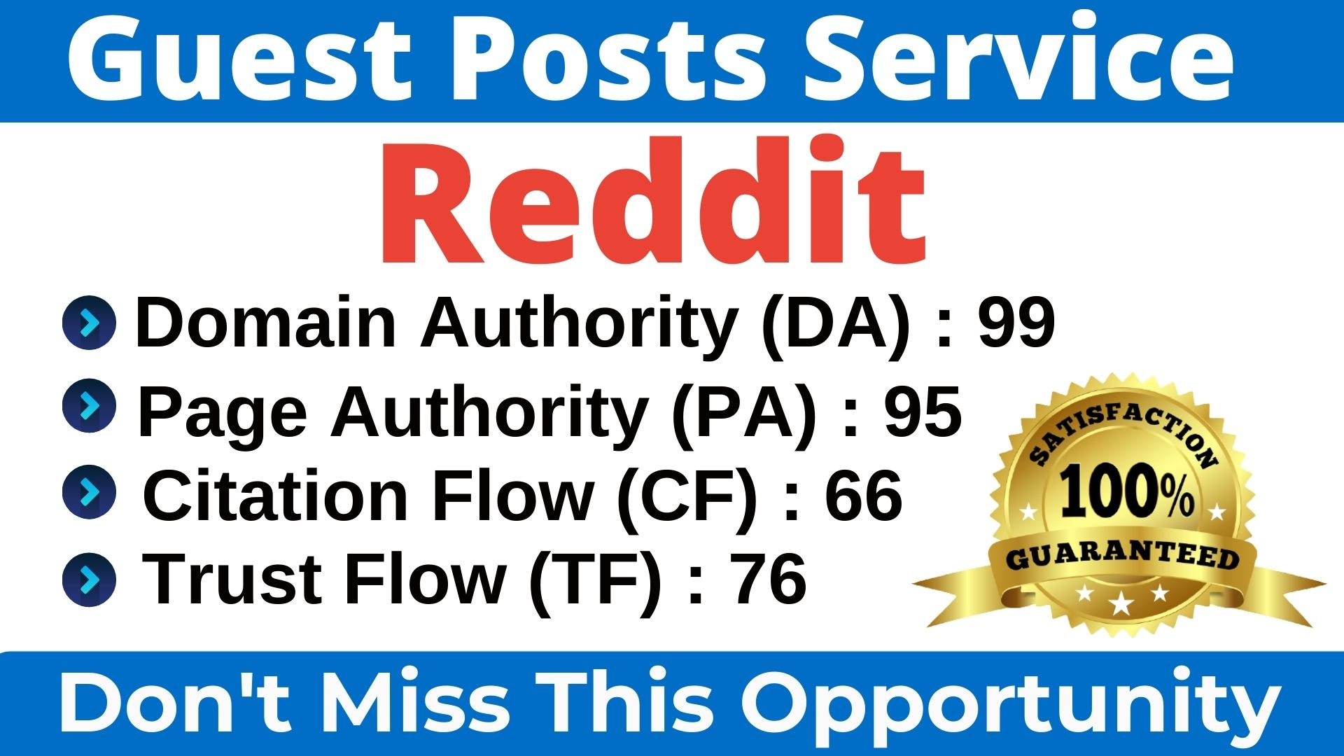 I will Write & Publish A Guest Post On Reddit DA 99,  PA 95 With high quality Backlink