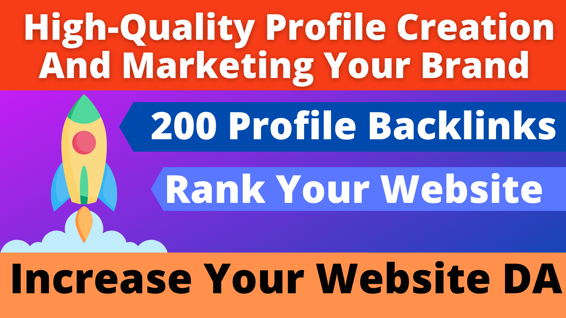 Manually Create 200+ HQSafe High authority Profile Creation Backlinks for Boost your website