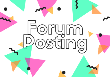 I can 40 high quality niche relevant forum posting for you.