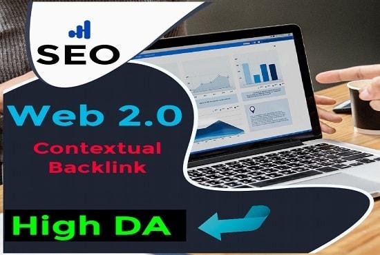 I will do manually 20 Web 2.0 Dofollow Contextual SEO Backlinks,  Link Building